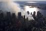 As duas torres do World Trade Center desapareceram do horizonte de Nova Iorque