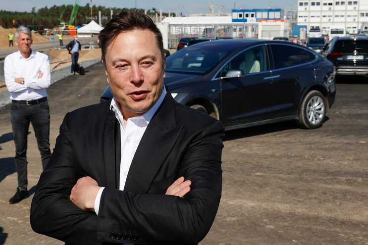 Elon Musk, líder do grupo de automóveis elétricos Tesla
