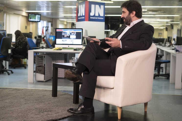 Ministro da Educação na redação do JN, no Porto, no âmbito de uma emissão especial