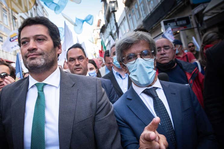 André Ventura e o candidato António José Fonseca