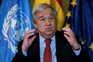 """O secretário-geral da ONU, António Guterres, considera que o relatório sobre o clima da ONU é um """"alerta"""