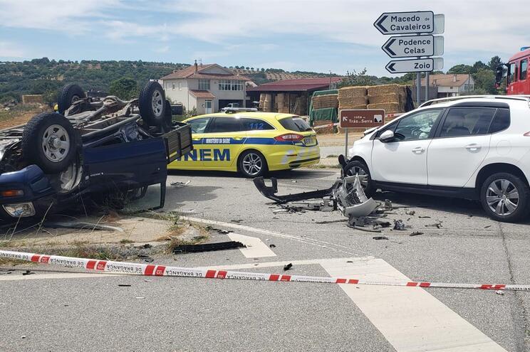 Duas mulheres feridas com gravidade num acidente em Bragança