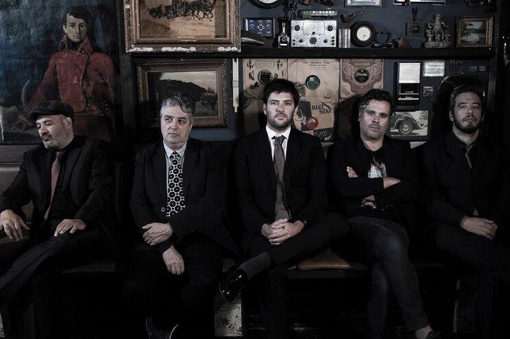 Kiko & The Blues Refugees. Da esquerda: Kiko Pereira, Jorge Filipe Santos, João Cunha, António Mão de