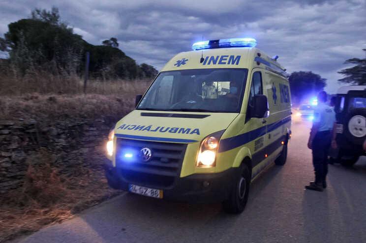 Ambulância que transportou Noah apra o hospital de Castelo Branco
