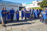Trabalhadores solidários com administração da empresa