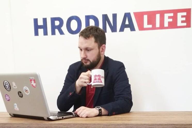 Aliaksei Shota, editor-chefe da publicação online de notícias Hrodna.life, da Bielorrússia