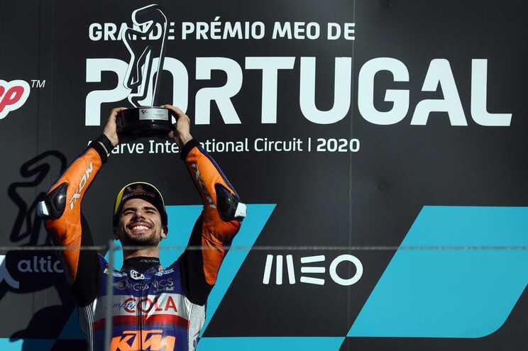 O piloto português de MotoGP Miguel Oliveira