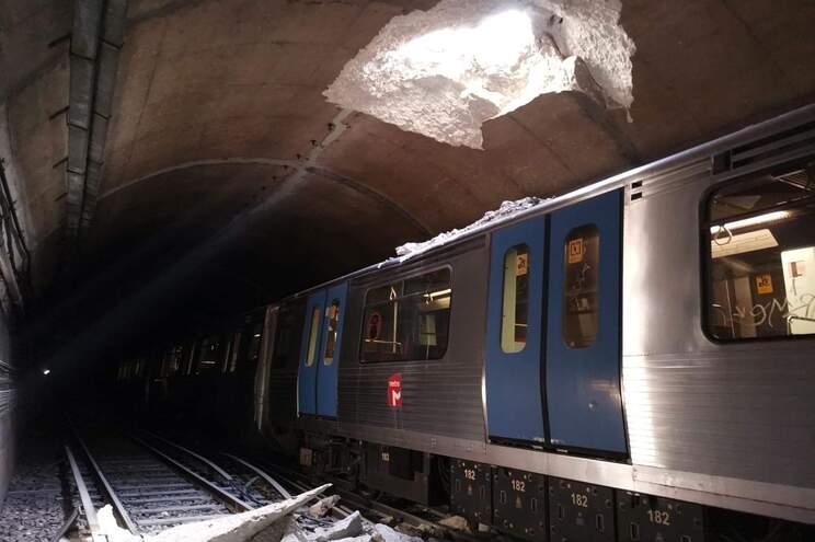 Perfuração na vertical em obra na Praça de Espanha causou desabamento no túnel do metro