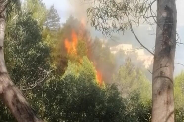 Mais de 50 bombeiros, apoiados por três helicópteros, estavam às 16.10 horas a combater as chamas