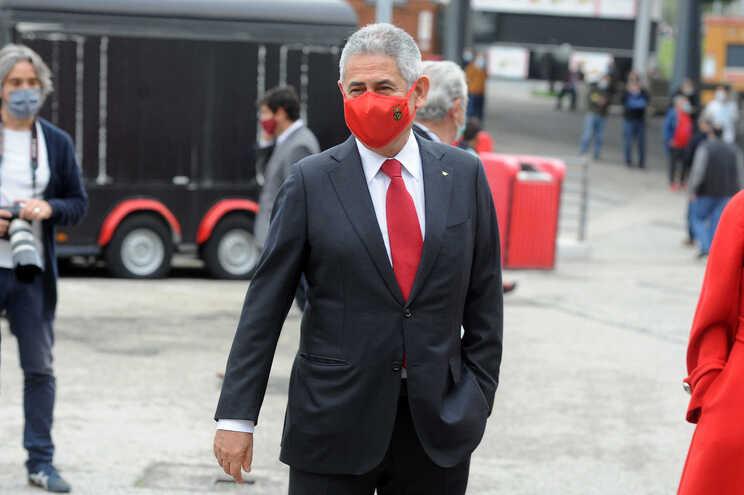 Luís Filipe Vieira é um dos infetados com covid no Benfica