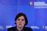 Ministra Mariana Vieira da Silva na conferência de imprensa após a reunião de Conselho de Ministros