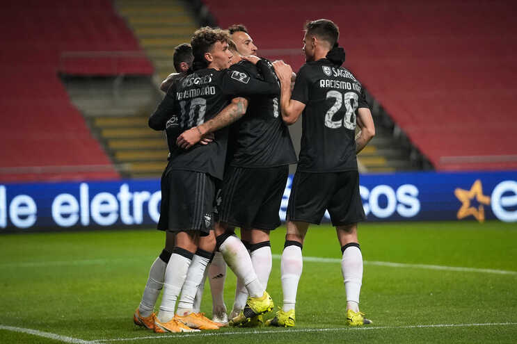 O Benfica defronta o Marítimo
