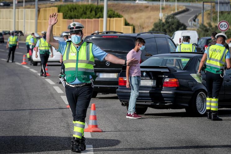 GNR detetou 210 situações de incumprimento a proibição de entrar e sair da Área Metropolitana de Lisboa