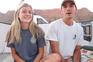 O casal de namorados durante a sua viagem pelos Estados Unidos