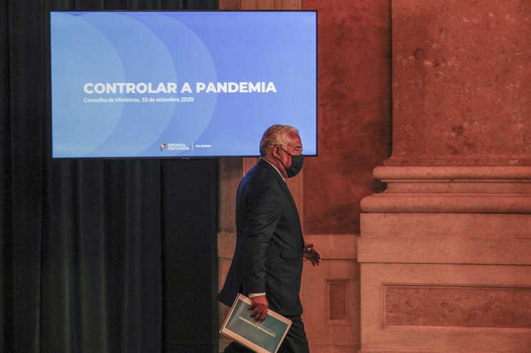António Costa no final do Conselho de Ministros