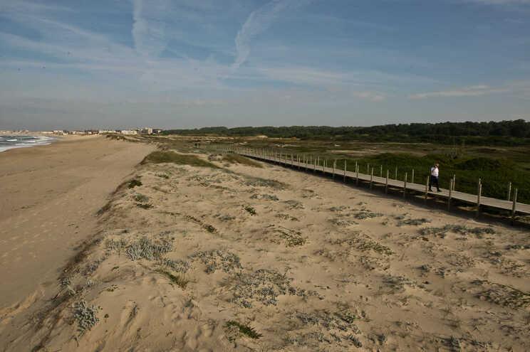 A praia do Mindelo, em Vila do Conde