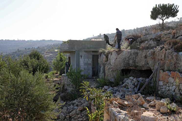 Local onde foram mortos os palestinianos