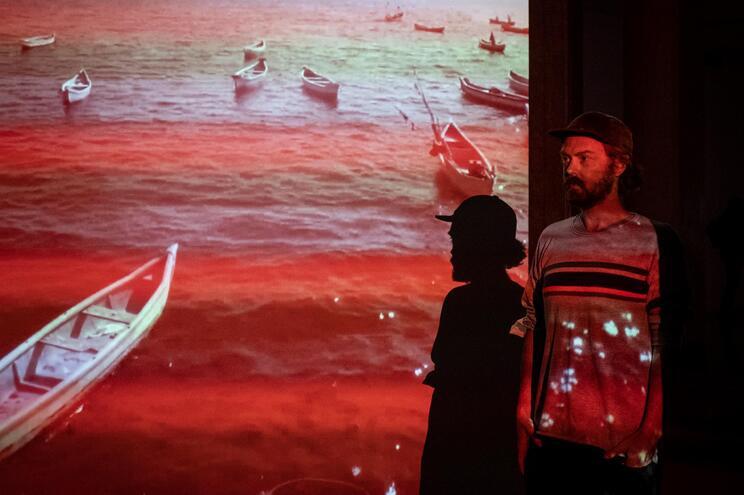 Porto, 02/10/2020 -  Visita de imprensa à exposição Red Lines with Landscapes: Portugal de Evan Roth