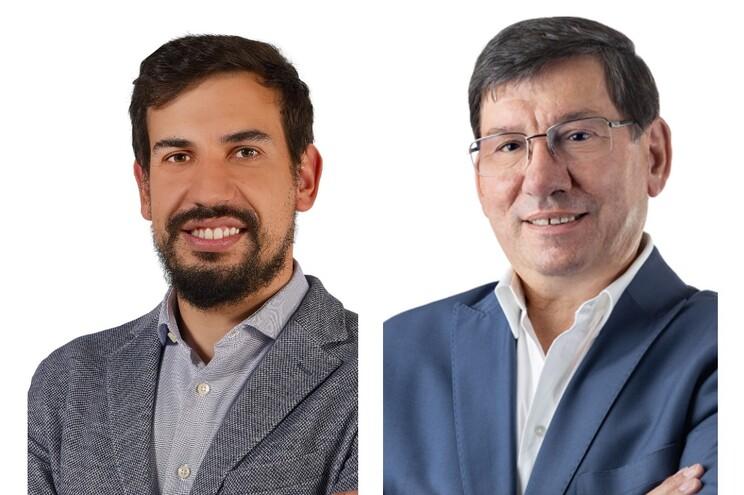 Carlos Franclim, candidato do PSD/CDS e atual presidente da junta, e José Rodrigues, do PS
