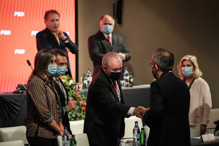 Rui Rio e Paulo Rangel no Conselho Nacional do PSD