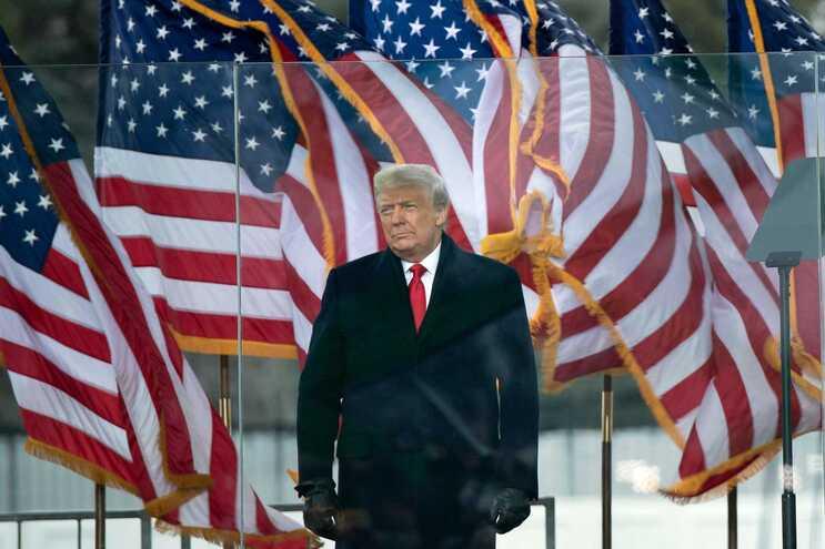 O presidente cessante dos EUA, Donald Trump