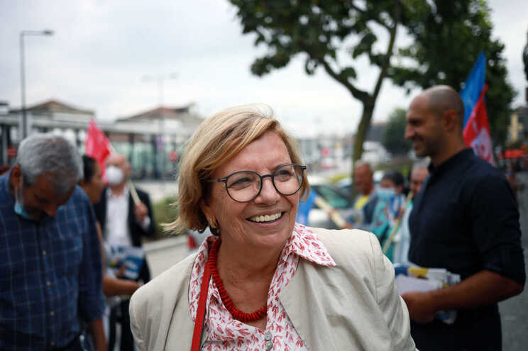 A candidata da CDU à Câmara Municipal do Porto, Ilda Figueiredo