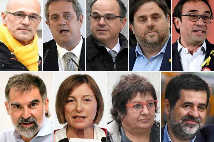 Líderes catalães detidos