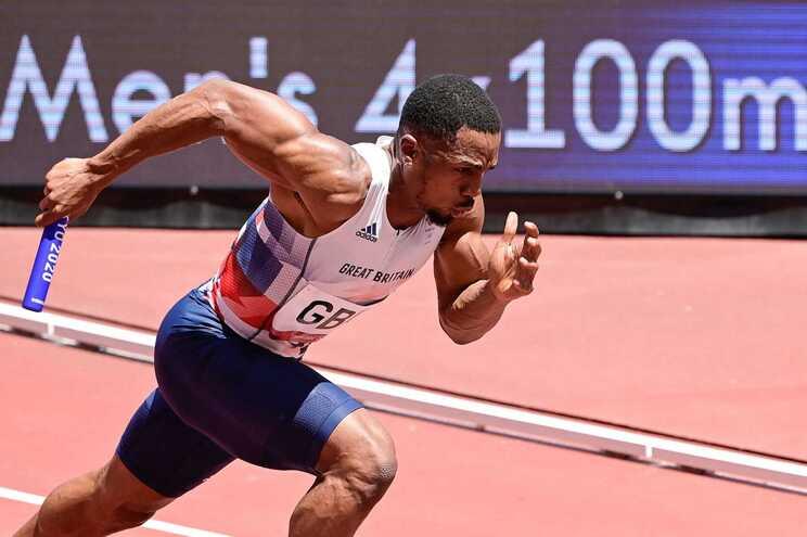 O velocista britânico Chijindu Ujah
