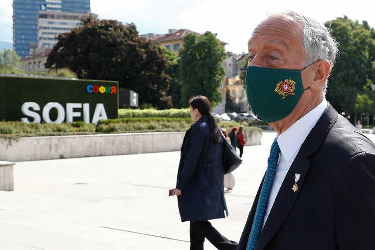 Marcelo Rebelo de Sousa em visita à Bulgária