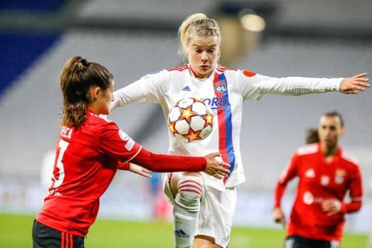 Benfica foi goleado pelo Lyon na Champions feminina