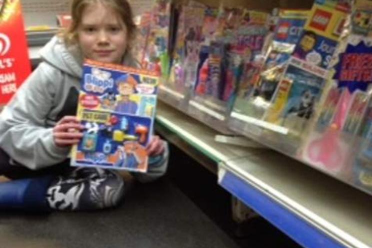 Menina revoltou-se contra os brinquedos de plástico oferecidos nas revistas