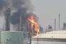 Bombeiros combatem incêndio na maior refinaria do Kuwait