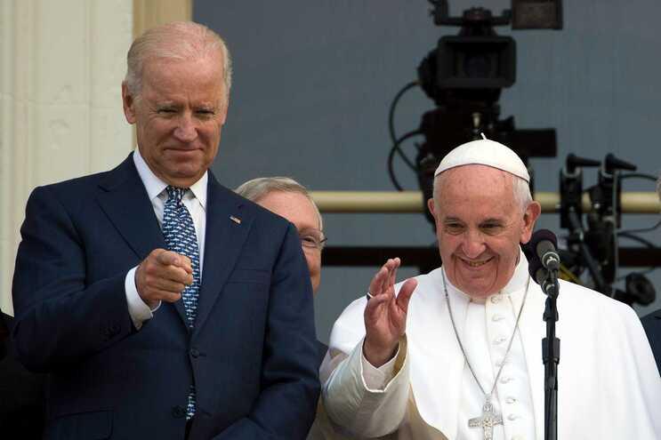 Foto tirada em 2015 quando Joe Biden era vice-presidente de Barack Obama