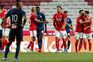 O Benfica empatou este domingo