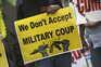 Protestos contra o golpe de estado e a junta militar