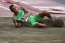 Nélson Évora lesionou-se durante a prova do triplo salto em Tóquio