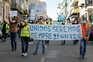 Protesto dos trabalhadores da Groundforce em São Bento, na quarta-feira