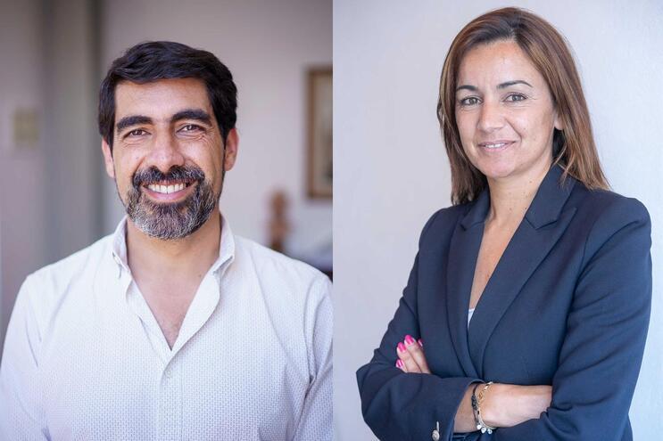 Miguel Alves, candidato do PS, e Liliana Silva, candidata do PSD/CDS-PP a Caminha
