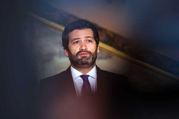 O presidente demissionário do Chega, André Ventura