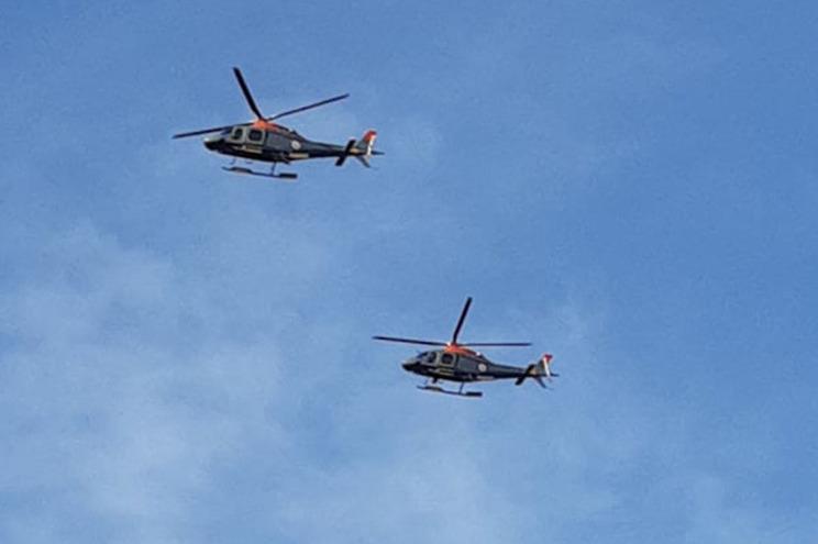 O helicóptero Koala conseguiu alcançar a mulher e levá-la até Santa Justa, na freguesia de São Pedro