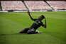 Nigeriano festeja o golo na vitória sobre o Benfica, na Luz