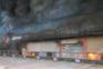 Centro empresarial consumido pelas chamas em Castelo de Paiva