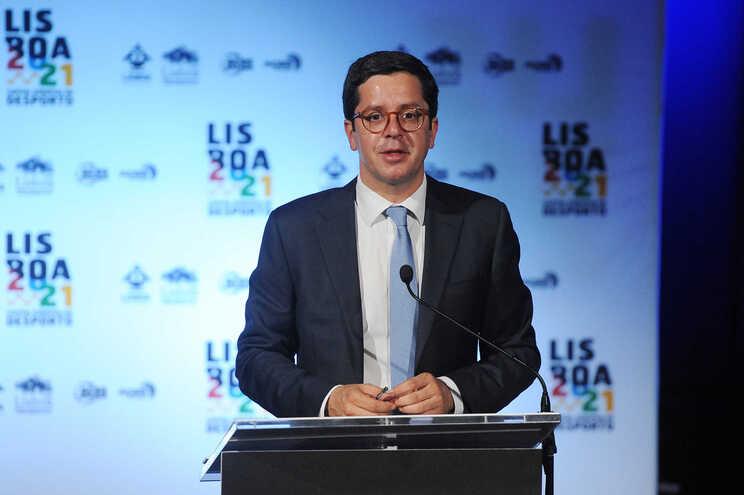 O secretário de Estado do Desporto, João Paulo Rebelo