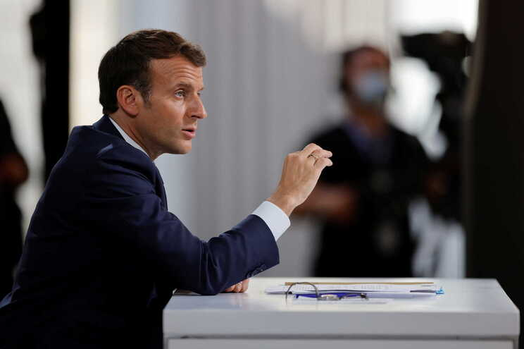 O presidente de França, Emmanuel Macron