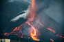 Mais lava em movimento após novo desabamento no vulcão de La Palma