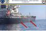 Imagens captadas pelo contratorpedeiro norte-americano USS Bainbridge (DDG 96) mostram os estragos no