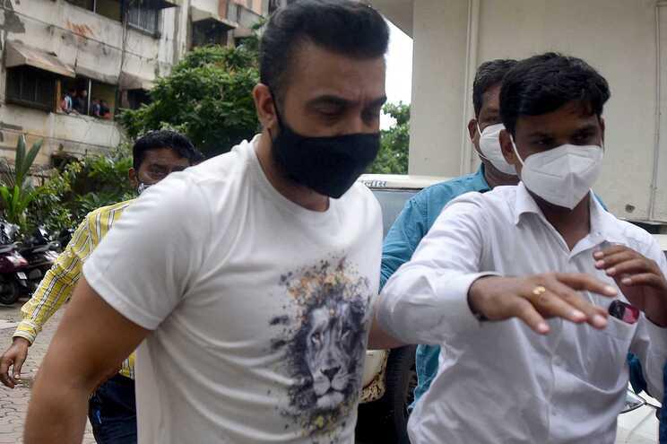 Raj Kundra foi detido em Bombaim
