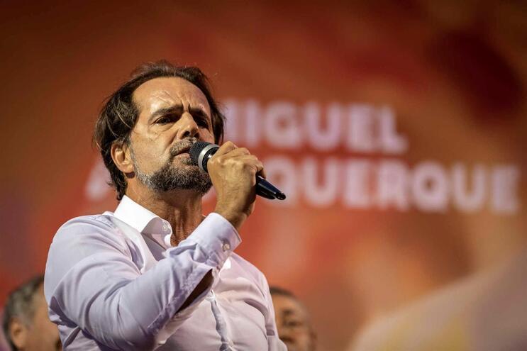 O presidente do PSD/Madeira, Miguel Albuquerque