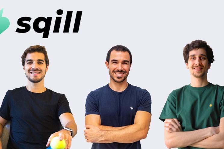 """Afonso Coimbra, Tiago Brandão e André Perdigão são os fundadores da """"Sqill"""""""