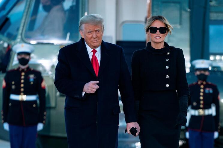 Donald Trump e Melania deixaram a Casa Branca a 20 de janeiro